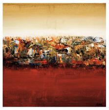"""Canadian Artist, Yehan Wang """"Red Lake"""" Large Art Print"""
