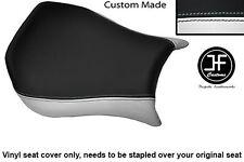 Blanco y Negro personalizado de vinilo cabe DUCATI Monoposto 748 916 996 998 Cubierta de asiento