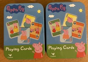 2 Peppa Pig Playing Cards, Children's Playing Cards kid Games children New
