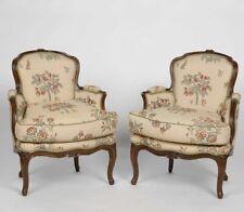 Superb 18th Century Louis XV French Oak Bergeres - a Pair