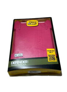 """OtterBox Kindle Fire HD 7"""" 2012 Defender Case/Stand Papaya Pink White Cover New"""