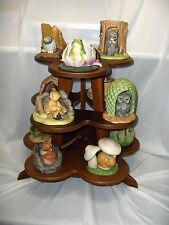 Woodland Surprises Franklin Porcelain Figurines 1984 Collection Display Tower