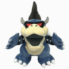 Dark Bowser Super Mario Bros Boss Koopa Plush Toy Stuffed Animal Figure 11""