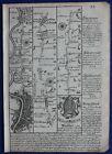 Original antique road map LONDON, HOUNSLOW, HENLEY, DORCHESTER, Bowen c.1724