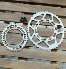 Rotor Q-Rings 52/36 bcd 110 7075T6 cnc oval chainrings w/ bolts