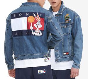 Space Jam: A New Legacy x Tommy Jeans Men's Medium Wash Denim Trucker Jacket