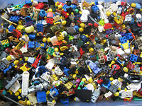 Lego 10 RANDOM MINIFIGURE LOT!  All Themes, Includes Headgear Great PARTY FAVORS