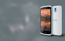 BRAND NEW GENUINE HTC DESIRE 526G (526+) UNLOCKED DUAL SIM WHITE/BLUE TRIM