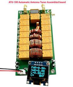 ATU-100 Assembled Board1.8-50MHz Automatic Antenna Tuner 0.96 Inch OLED ATU100