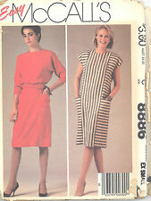 McCall's 8886 Misses' Dress and Sash  Size 6 - 8   Sewing Pattern