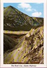 (w9x) Postcard: Alaska Highway, The Rock Cut