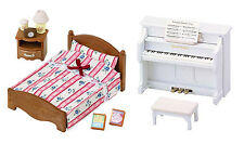 Two Sylvanian Families Toys Together – Piano & Semi-Double Bed