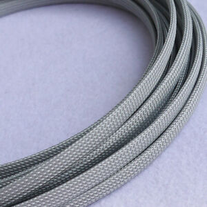PET Expandable Braided Tube Dense Sleeving Car Audio Cable Wire DIY Sheath -Gray