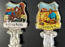 2 X Souvenir Spoons Australia Damper + Walzing Mathilda Silver Plated GC