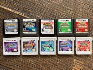 Authentic Pokemon 3DS & DS Cartridges - SoulSilver White 2 X Y Diamond U PICK!