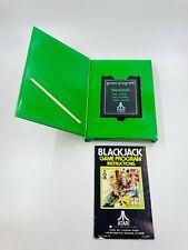Black Jack 1977 Gatefold Atari 2600 Game Program Cartridge Complete In Box CIB