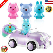 2.4Ghz Cartoon Remote Control Car Toy Racing Play Car Light Sound Music Effects