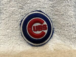 VINTAGE 1970's Chicago Cubs 2 1/4 Inch Embroidered Embossed Patch, VERY NICE!