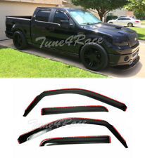 For 09-14 Ford F150 Crew Cab Window Visors IN-CHANNEL Side Rain Guard Deflectors