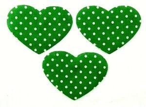 Feine Stoff-Applikation zum Aufbügeln  Bügelbild 4-109  3 Herzen