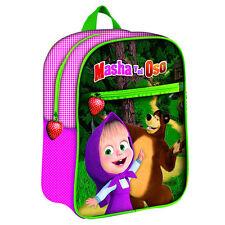 Mascha und der Bär Rucksack Tasche Kindergartenrucksack NEU 3D Motiv