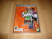 THE SIMS 2 OPEN FOR BUSINESS EXPANSION PACK APPLE MAC DVD NEW FACTORY SEALED