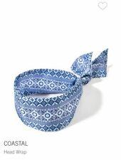 Bath & Body Works Coastal Head Wrap Band Lightweight Blue Pattern Print OS