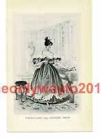 Young Lady 1835, Concert Dress, Book Illustration (Print), 1934