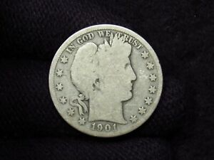 1901-S Barber Half Dollar G/VG