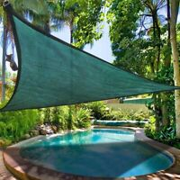 11.5' Triangle Sun Shade Sail Garden Yard Outdoor Canopy Cover Garden Pool Green