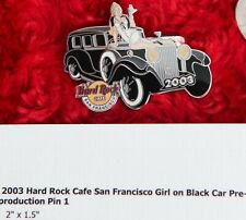 Hard Rock Cafe Pin San Francisco PROTOTYPE Girl On Car classic Pre-Production