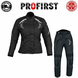 2Piece Motorcycle Women Suit Motorbike Ladies Jacket Trousers Codura CE Approved