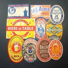 LOT 10 ETIQUETTES BIERE BOISSON ALCOOL ANCIENNES OLD BEER LABELS ROY ALPHA