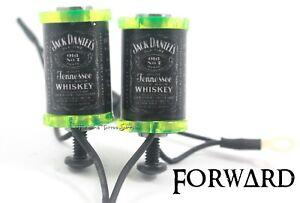 """1.25"""" Tattoo Machine 8-32 Coils Lime Washers Custom Jack Daniels Covers Forward"""