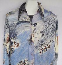 Vtg Miller Western Wear CYRK Horse Shirt Equestrian Snaps Acetate 16/38 Medium