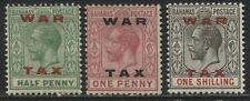 Bahamas KGV 1919 War Tax 1/2d to 1/ mint o.g.