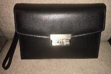 Auth BALLY Leather CARRYALL Wallet ORGANIZER Card Holder CLUTCH Wristlet Man Bag