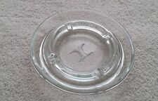 Hilton Hotels Glass Ashtray 4 7/8 inches Round Clear Smoking Cigar Decorative