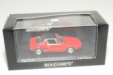 . MINICHAMPS FIAT X 1/9 X1/9 1972 - 78 RED MINT BOXED