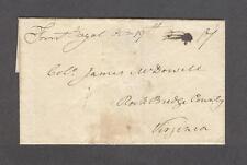 """Front Royal Octr 19th"" VA 1810 wrapper James Markham Marshall to James McDowell"