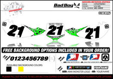 2002-2012 KAWASAKI KLX 110 Graphics Number Plate Backgrounds Badboy By Enjoy Mfg