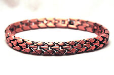 HANDSOME MENS 8.75 IN. WOVEN COPPER HEALING MAGNETIC LINK BRACELET: FOR PAIN!