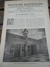 1927 Chicago New Bismarck Hotel