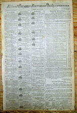 1798 Baltimore MARYLAND newspaper The Federal Gazette -containing five SLAVE ADS