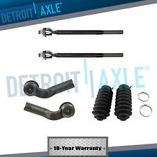 New 6pc Kit: Front Inner & Outer Tie Rod Ends w/Boots for Mazda 3 and Mazda 5