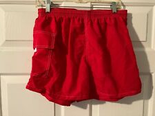 WATER SAFETY PRODUCTS YOUTH RED SWIM SUIT SHORTS-SIZE LARGE-NEVER WORN-USA-NYLON