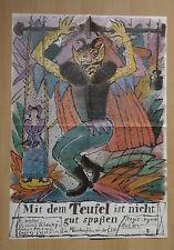 (D125) DDR-Kinoplakat MIT DEM TEUFEL IST NICHT GUT SPAßEN Grafik: Ullmann 1976