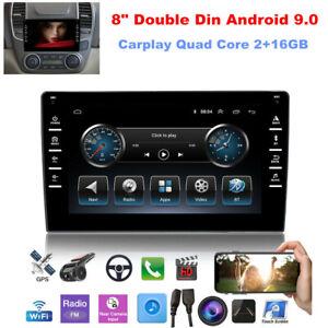 "8"" Double Din Android 9.0 Carplay Car Stereo Radio GPS Navigation 4 Core 2+16GB"