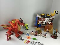 Imaginext Pirate Cove Skull Hideout Ship w/ SKELETONS - DRAGONS - PIRATES + More