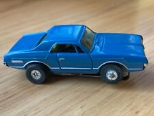 Vintage  Aurora TJET Thunderjet Mercury Cougar Blue Slot Car